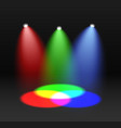 rgb spectrum red green blue color mixing design vector image