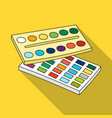 watercolor paint icon in flat style isolated on vector image