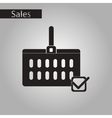 black and white style icon Shopping cart vector image