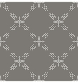 Seamless pattern mono line art style vector image
