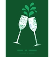abstract blue and green leaves toasting vector image vector image
