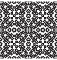 Abstract embroidery geometric seamless pattern vector image vector image