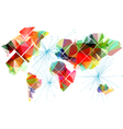abstract multicolor world map vector image