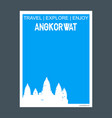 angkorwat krong siem reap cambodia monument vector image vector image