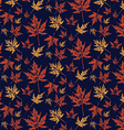 Autumn leafy pattern vector image vector image