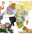background with continent of africa vector image vector image