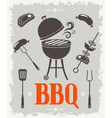bbq poster vector image vector image