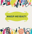 beauty and fashion Make Up vector image vector image