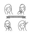 beauty icons acne treatment face cleaning mask vector image