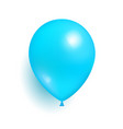 blue toy balloon made of rubber realistic vector image vector image