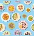 breakfast with porridge fruits berries and vector image vector image