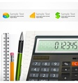 Calculator notepad vector image vector image