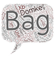 camera bag domke text background wordcloud concept vector image vector image