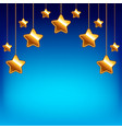 Cartoon stars on blue sky background