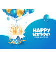celebrating 10 th years birthday 3d vector image vector image