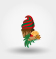 christmas cupcake festive cupcake christmas and vector image vector image