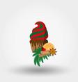christmas cupcake festive cupcake vector image vector image
