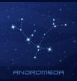 constellation andromeda princess night star sky vector image vector image
