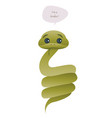cute snake isolated on white background and vector image vector image