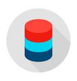 data server circle icon vector image