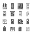Door Icons Set vector image vector image