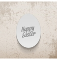 Easter realistic paper Egg greeting Label vector image
