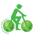 eco bike vector image vector image