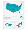 editable template map united states of vector image