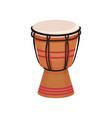 ethnic drum musical instrument vector image