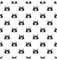 fashion head cat pattern seamless vector image