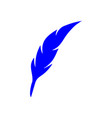 feather pen logo feather pen logo vector image
