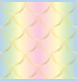 golden mermaid tail texture fish scales seamless vector image vector image