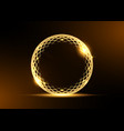 golden ring frame gold award prize logo vector image vector image