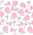 gorgeous seamless pattern with blooming pink rose vector image vector image