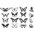 Hand Drawn Set of Butterflies vector image vector image