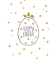 happy easter greeting card with eggs and chicks vector image vector image