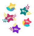 hot sales during the discount period vector image vector image