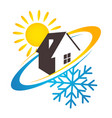 House sun and snowflake design for business vector image