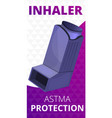 inhaler protection concept banner cartoon style vector image vector image