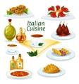 Italian cuisine cartoon icon for restaurant design vector image vector image
