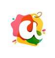 letter a logo with sale tag icon watercolor vector image vector image