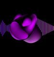 liquid geometric shape isolated on black fluid vector image vector image