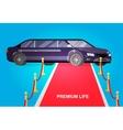 Luxury limousine car vector image