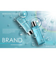 moisture cosmetic tubes banner ads skin care vector image