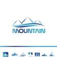 Mountain tourism logo icon vector image