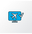 online check-in icon colored line symbol premium vector image vector image