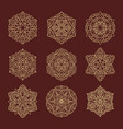 ornament round set with mandala with arabic style vector image
