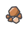 pile stone icon cartoon vector image