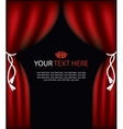 playbill with curtain theater stage vector image vector image