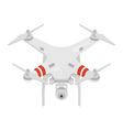 quadrocopter or drone isolated on white background vector image